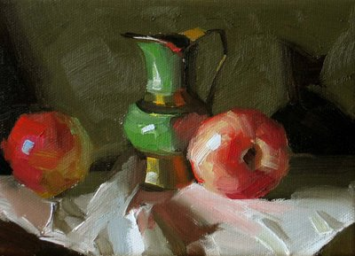 """White Nectarine --- Sold"" original fine art by Qiang Huang"