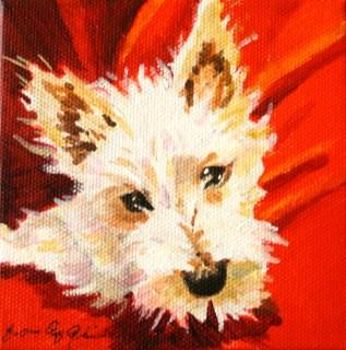 """Cutie Pup for Tracy"" original fine art by JoAnne Perez Robinson"