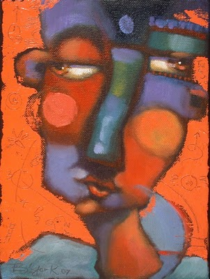 """Red Encounter #22"" original fine art by Brenda York"