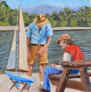 """Model Sailors"" original fine art by Robert Frankis"