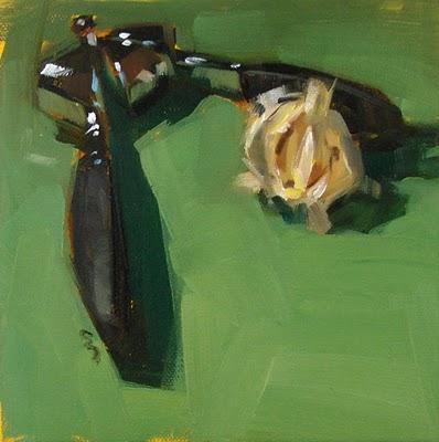 """Garlic Press --- SOLD"" original fine art by Carol Marine"