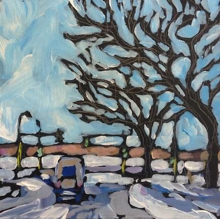 """Down 36th To Lake Calhoun"" original fine art by Kat Corrigan"