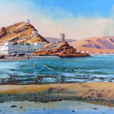 """""""Sur, Oman"""" original fine art by Alix Baker PCAFAS AUA"""