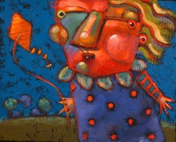 """Matilda Flirts With Disaster"" original fine art by Brenda York"