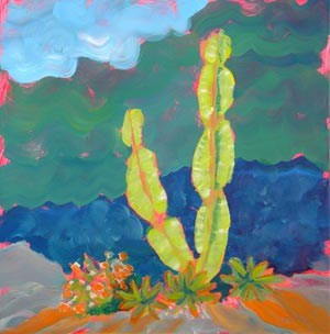 """""""Sarris Garden 2 Sold"""" original fine art by Pam Van Londen"""