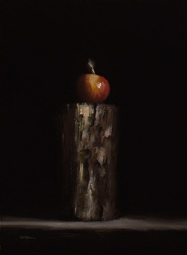 """Apple on Firewood"" original fine art by Neil Carroll"