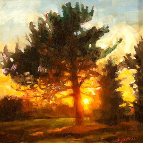 """Last Light"" original fine art by Susan N Jarvis"