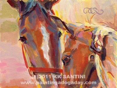 """Nuzzling Hope"" original fine art by Kimberly Santini"