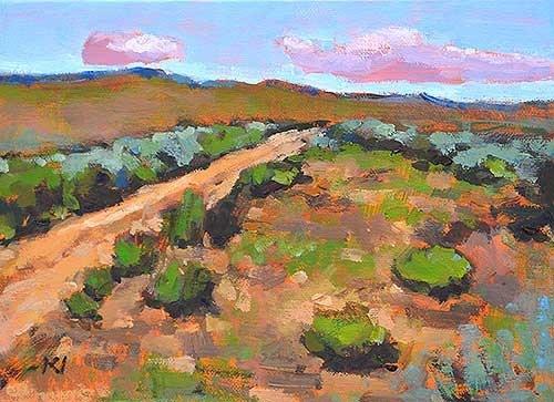"""Mountains, Boise"" original fine art by Kevin Inman"