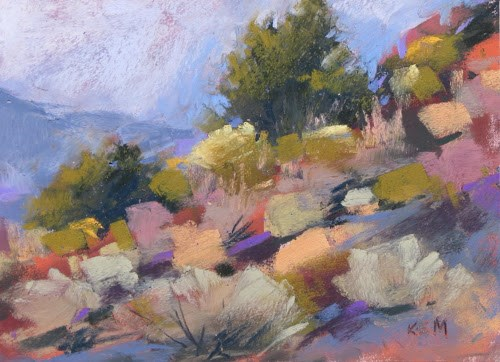 """""""The Majesty of Zion....Deciding What to Paint"""" original fine art by Karen Margulis"""