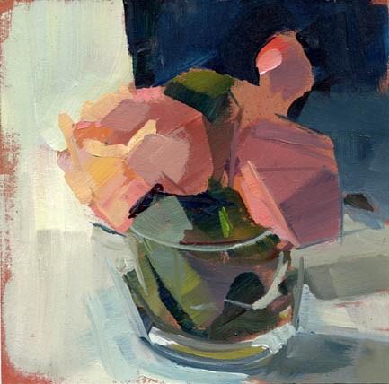 """""""#1153 Peonies in a Cup"""" original fine art by Lisa Daria"""