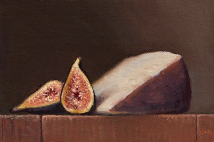 """Spanish Cheese with Fig Halves   (+ My Upcoming Trip to Spain)"" original fine art by Abbey Ryan"