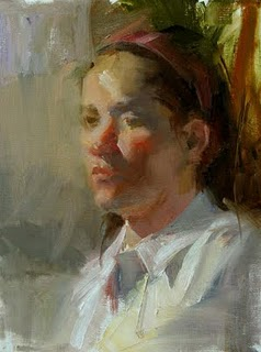 """""""Study with Carolyn Anderson 2"""" original fine art by Qiang Huang"""