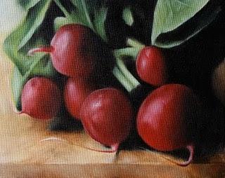 """Red Radishes"" original fine art by Jonathan Aller"