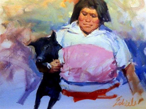 """bringing home the bacon"" original fine art by Richard Schiele"