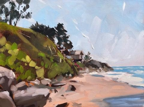 """Rincon Plein Air - 9x12"" original fine art by Sharon Schock"