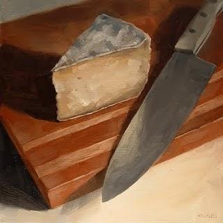 """Cheese Wedge"" original fine art by Michael Naples"