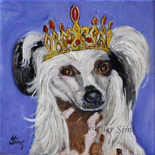 """Coronation: King Buttercup"" original fine art by Heather Sims"