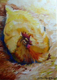 """""""Lady Hen"""" original fine art by JoAnne Perez Robinson"""