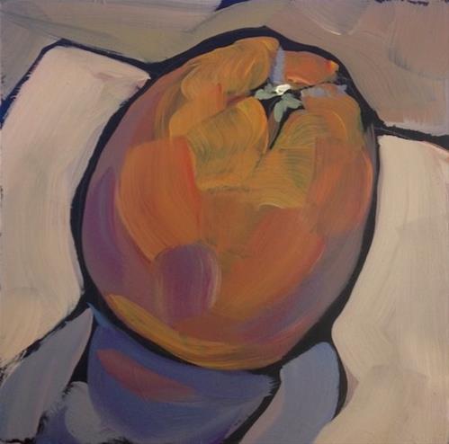 """""""Tilted Orange"""" original fine art by Kat Corrigan"""