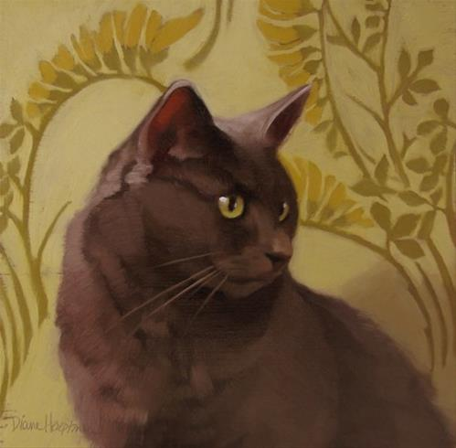 """""""Crooner, another painting of Coco"""" original fine art by Diane Hoeptner"""