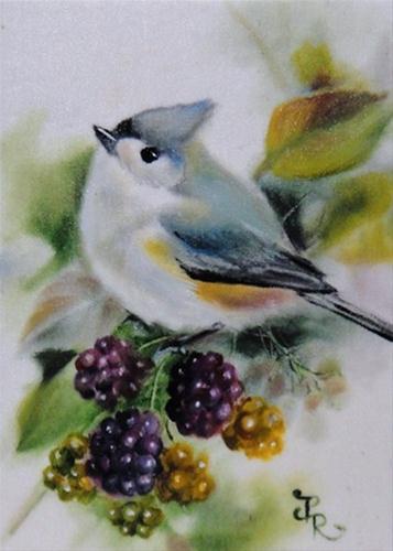 """Blackberry Candies - ACEO"" original fine art by Paulie Rollins"