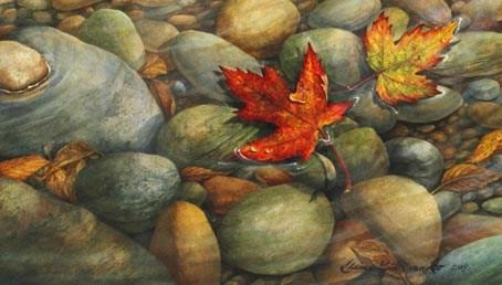 """Stream of Colour"" original fine art by Elaine Guitar van Loo"