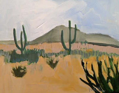 """AZ"" original fine art by Pamela Munger"