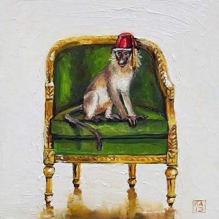 """warm and fezzy"" original fine art by Kimberly Applegate"