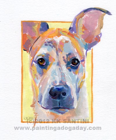 """""""Westen, A Painted Sketch"""" original fine art by Kimberly Santini"""