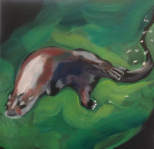 """""""Schwoopity Curve"""" original fine art by Kat Corrigan"""