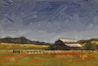 """""""Barn Out On Buckley Road"""" original fine art by Raymond Logan"""