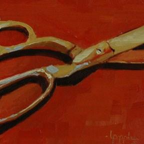 """SCISSORS"" original fine art by Linda Popple"