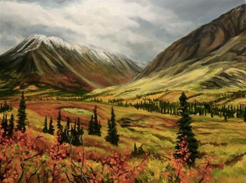 """Near Mac Pass, the North Canol"" original fine art by Jackie Irvine"