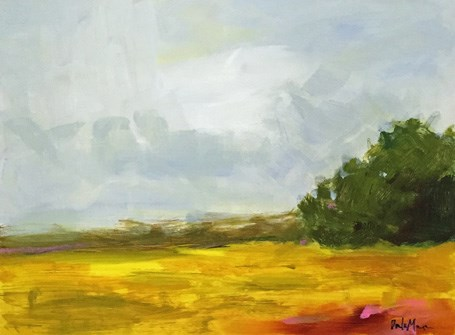 """October Field"" original fine art by Pamela Munger"