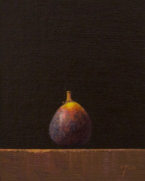 """Fig  (+ Preparing for a Big Announcement)"" original fine art by Abbey Ryan"