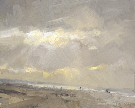 """""""Seascape autumn #9 Winterlight (available)"""" original fine art by Roos Schuring"""