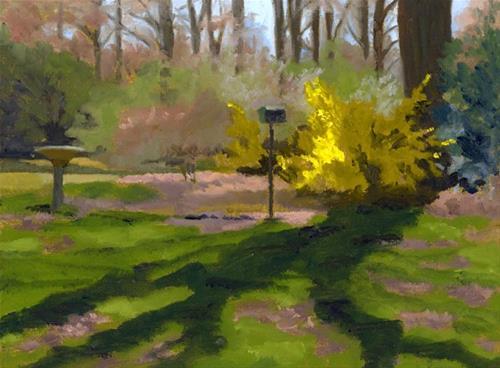"""Forsythia  2011"" original fine art by Nancy Herman"