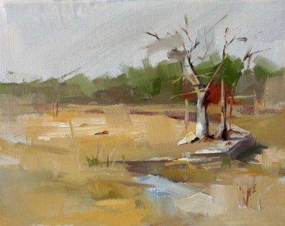"""""""A Warm Day"""" original fine art by Qiang Huang"""