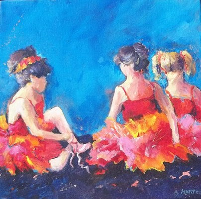 """Waiting to Perform"" original fine art by Alice Harpel"