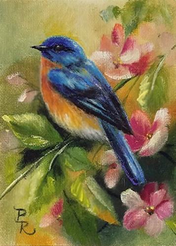 """Peach Fuzz"" original fine art by Paulie Rollins"