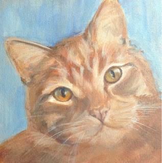 """Lindsey's Cats - Rusty"" original fine art by Lyn Gill"