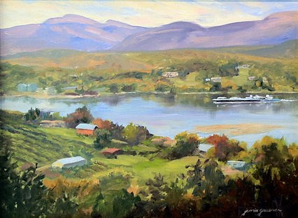 """Second Place Award at Olana Plein Air event!"" original fine art by Jamie Williams Grossman"