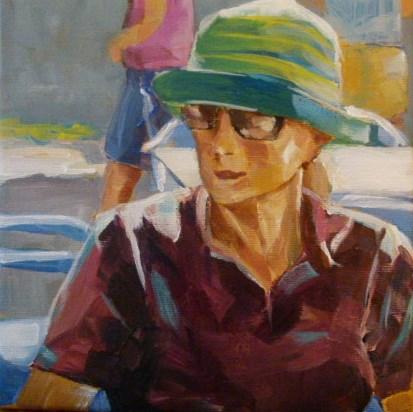 """Touristin auf Mallorca"" original fine art by Sabine Hüning"