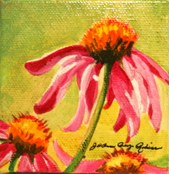 """Flowers to a tea"" original fine art by JoAnne Perez Robinson"