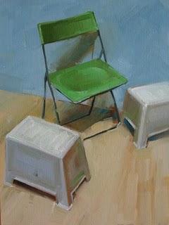"""Chair composition"" original fine art by Fongwei Liu"