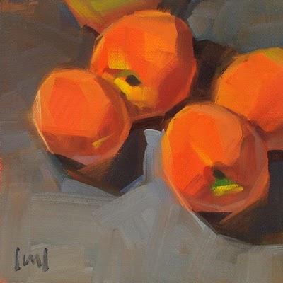 """Peachy Keen --- SOLD"" original fine art by Carol Marine"