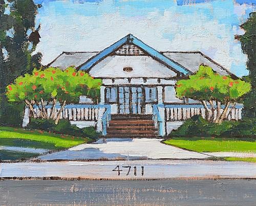 """Historic Designation in Ocean Beach"" original fine art by Kevin Inman"