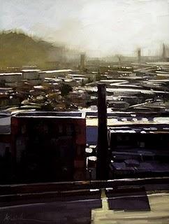 """Georgetown Rooftops"" original fine art by Karin Jurick"