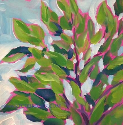 """The Catalpa Breeze"" original fine art by Kat Corrigan"